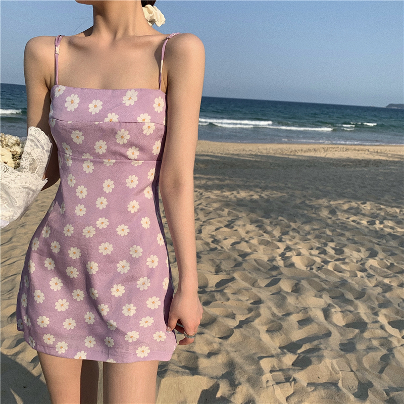 Make Firm Offers Students Summer Inside Take Sexy Little Daisy Cultivate One's Morality Dress Of Sundress That Wipe A Bosom