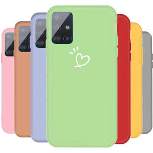 Love-Heart-Case Candy-Color Lovebay Samsung A71 Back-Cover Silicone for Galaxy TPU A715F