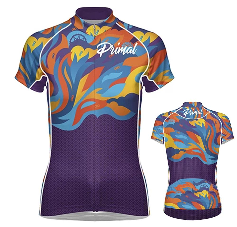 PRIMAL Women Cycling Jersey Summer Short Sleeve MTB Cycling Clothing Bike Top Shirt Quick Dry Ropa Maillot Ciclismo Bicycle Wear