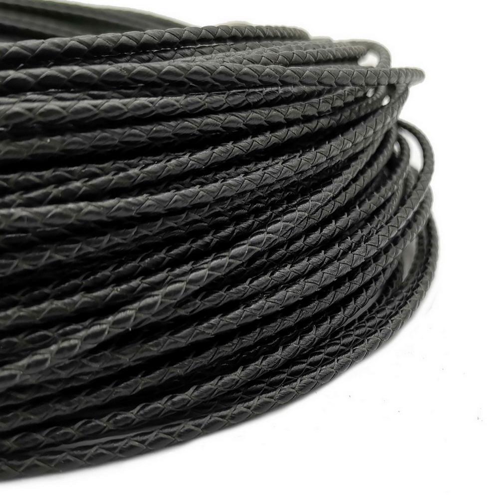 Aaazee 2,5 мм Плетеный кожаный шнур Bolo ремешок для изготовления ювелирных изделий галстук|Ювелирная фурнитура и компоненты| | АлиЭкспресс