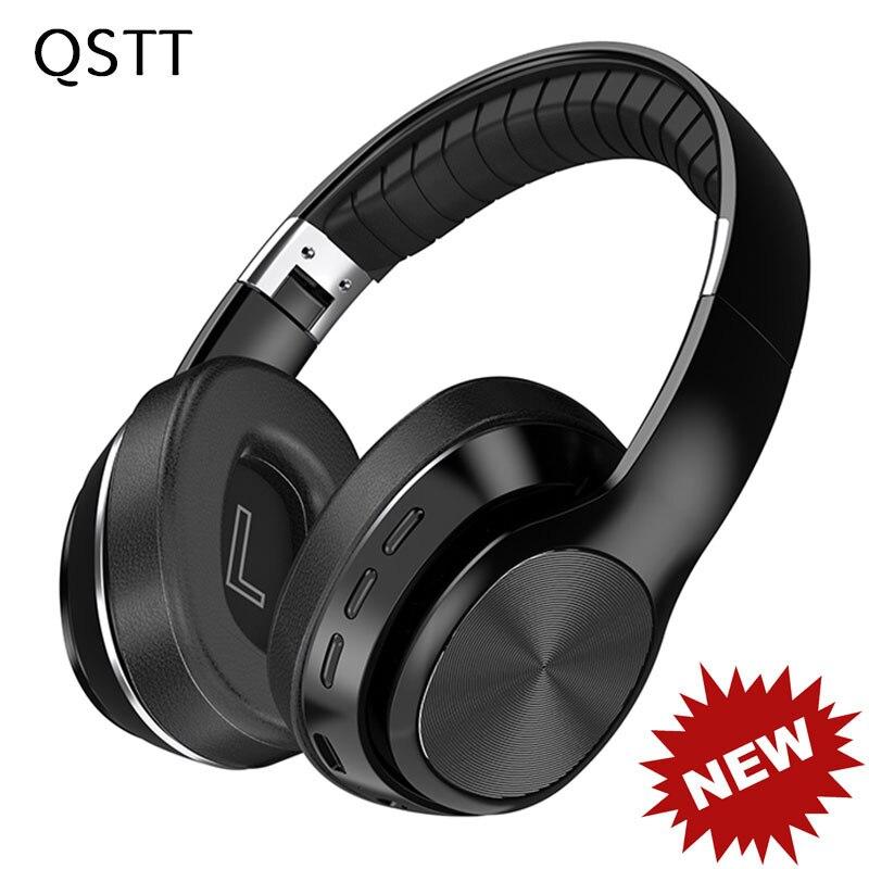 New VJ320 HiFi Headphones Wireless Bluetooth 5 0 Foldable Support TF Card FM Radio Bluetooth Stereo Headset With Mic Deep Bass