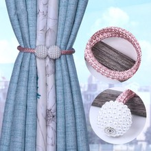 Buckle-Strap Curtain-Clip Thick-Rope Hanging-Ball Magnetic-Buckle Pearl