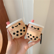 Teyomi 3D Cute Milk Tea Case For Airpods Pro Case Soft Silicone Headphone Earphone Case For Airpods 1/2 Case For Girls