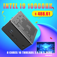 TOPTON 10th Gen Nuc Intel i9 10980HK 9980HK i7 10750H Mini PC 2 Lans Win 10 2 * DDR4 2 * NVME Gaming Desktop Computer 4K DP HDMI 2,0