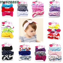New Spring Autumn Cotton Baby Headband Girls Twisted Knotted Soft Elastic Baby Girl Headbands Infant Headwear Hair Accessories