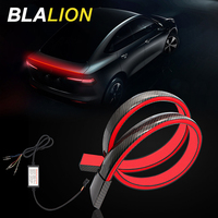 125cm Flexible Auto Stamm Schwanz Bremse Lichter Wasserdicht 12V LED Streifen Hohe Hinten Zusätzliche Stop Licht Auto Drehen signal Lauf Lampe
