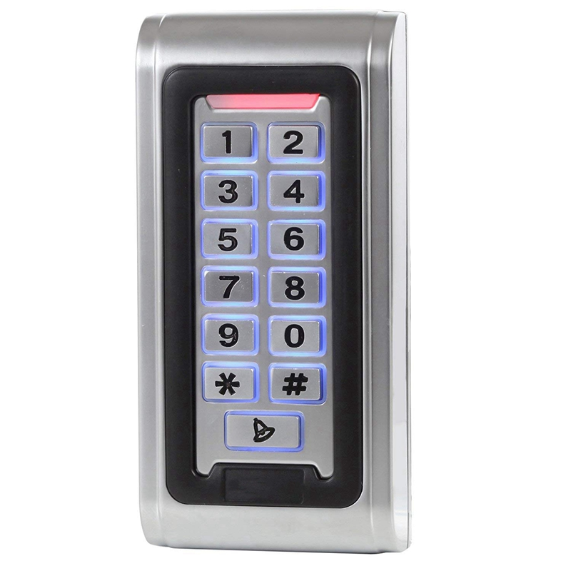 Id Waterproof Ip68 Metal Case Stand-Alone Access Control Keypad With Wiegand 26 Bit Interface For 125Khz Rfid Card