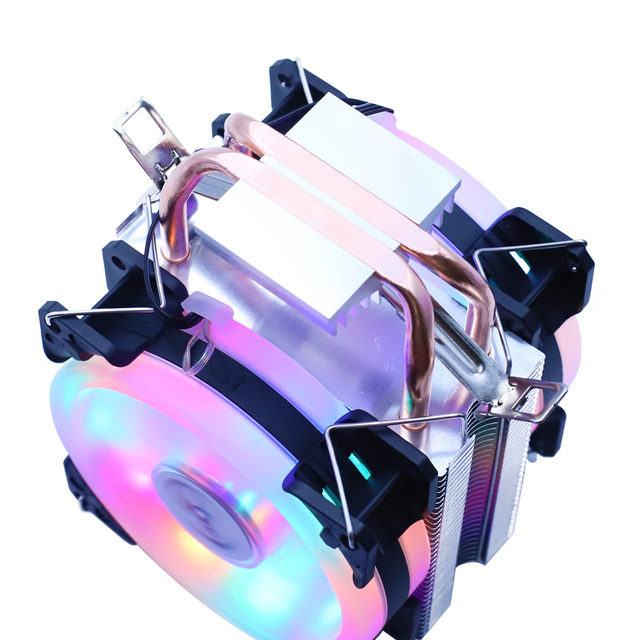 Efficient Cooling CPU Cooler Fan 3pin For Intel LGA 1150 1151 1155 1156 775 1200 AMD AM3 AM4 Quiet Ventilador Silent Radiator 3