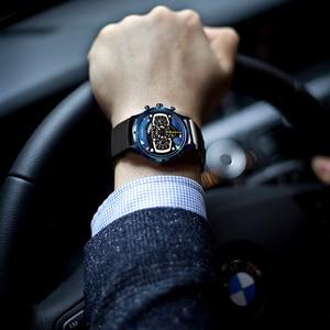 Image 5 - Relojes Hombre SINOBI רכב Creative גברים לצפות Mens אופנה מהירות מירוץ ספורט זמן הכרונוגרף סיליקון שעונים קוורץ שעוני יד