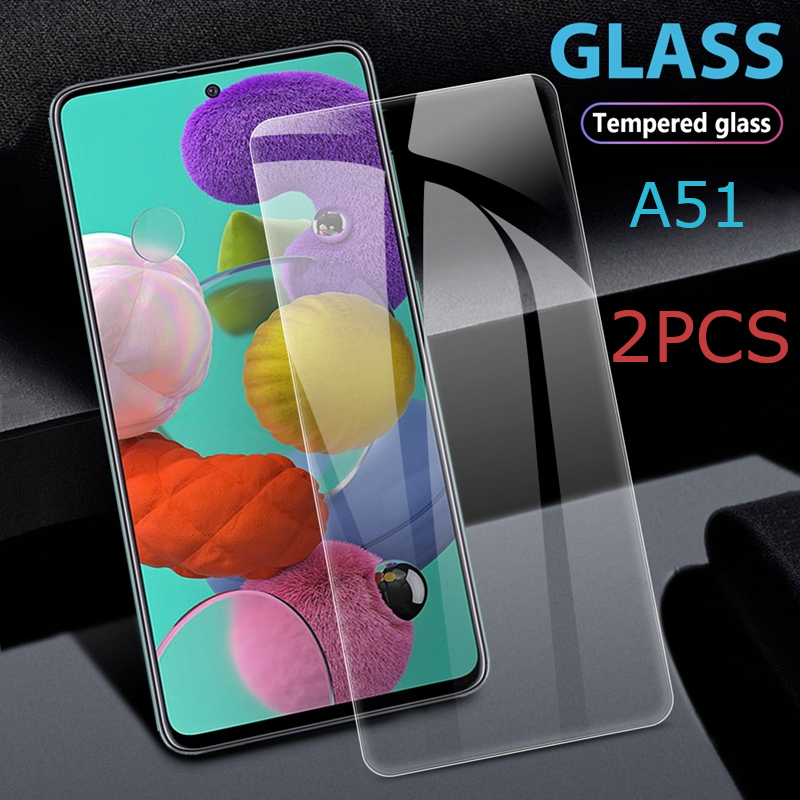 2PCS Protective Glass for Samsung A51 Screen Protector for Galaxy A 51 SM-A515F Tempered Glas on Samsunga51 Galaxya51 Film Cover