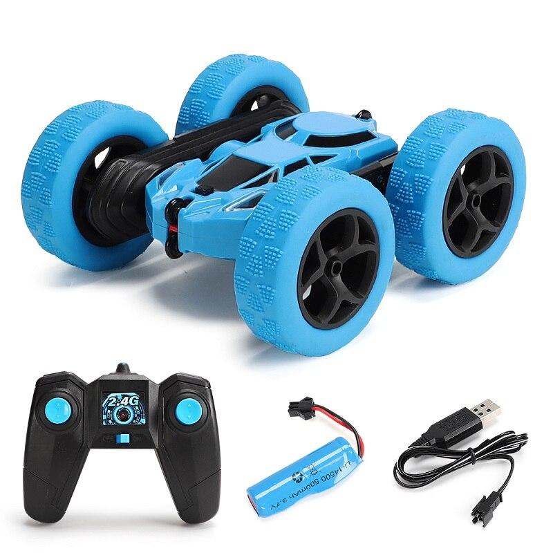 1/18 carro rc 360 graus rolo dupla face dublê carro de alta velocidade rotativa brinquedo carro legal farol crianças brinquedo carro