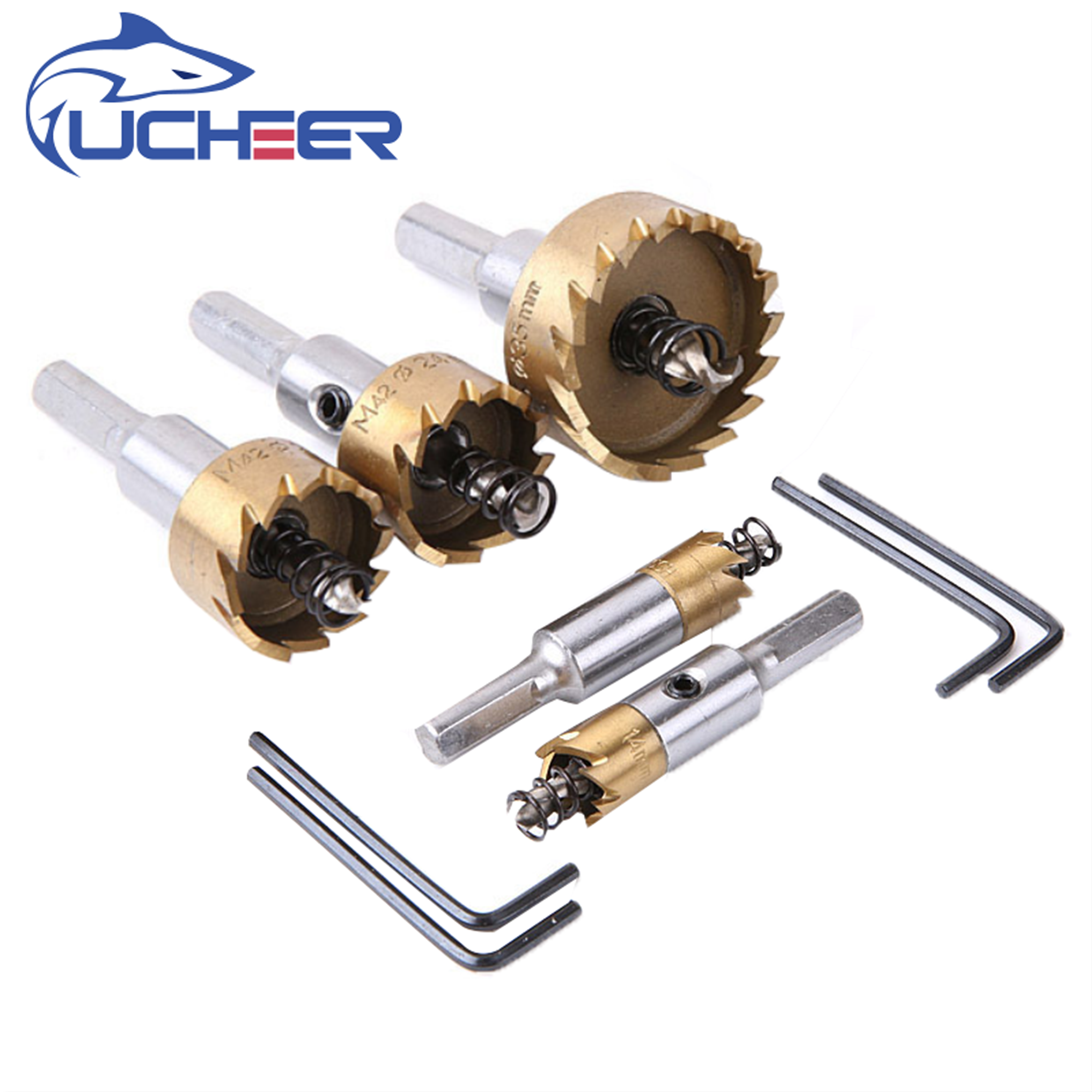 UCHEER 1pc M2 HSS Metal Hole Opener Drill Bits Thin Stainless Steel Aluminum Alloy Reamer Tin Hole Opener Metalworking Tools