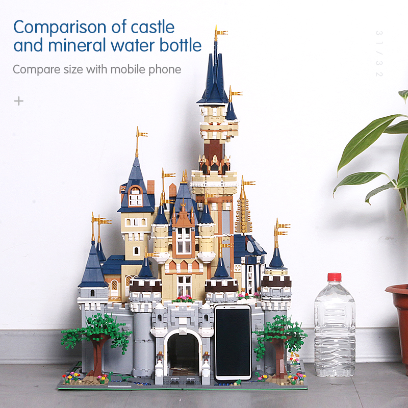 By DHL Ship Girl Friends Model Building Blocks Cinderella Princess Castle Compatible lepins City friend 71040 16008 MOC Toy Gift image