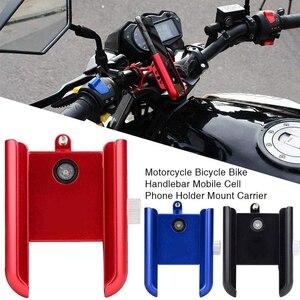 """Image 2 - אופני אופניים טלפון נייד מעמדי אופנוע אופני אנטי שקופיות ידית טלפון הר מחזיק עבור 3.5 """"to7.5"""" טלפונים חכמים"""