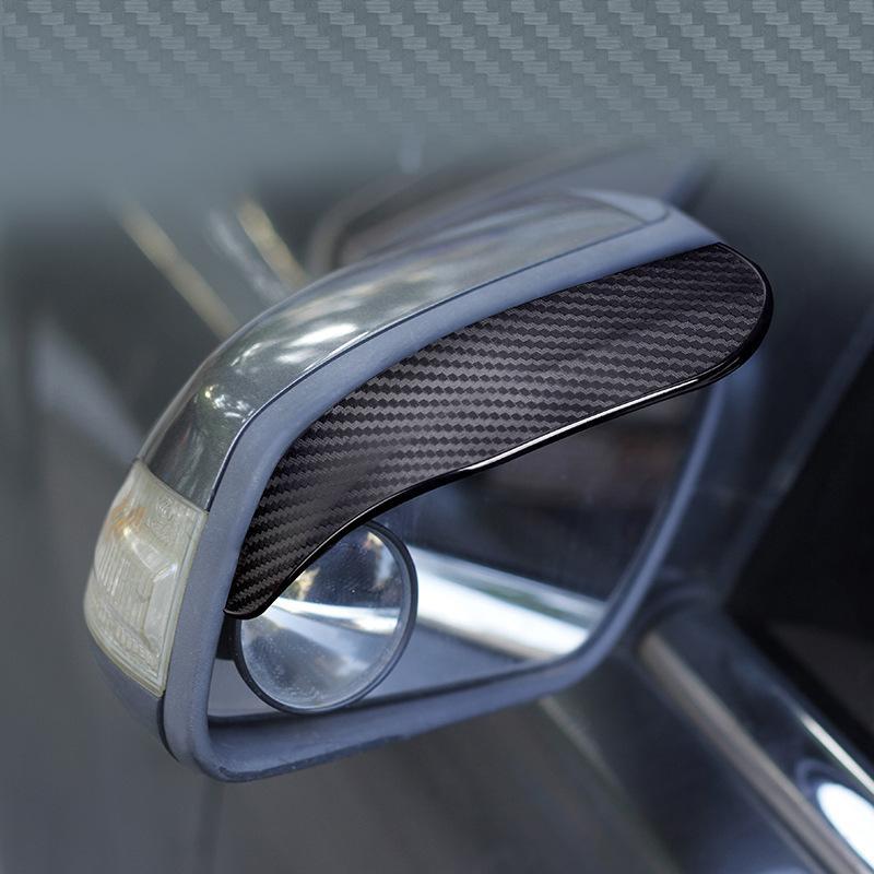2Pcs PVC รถด้านหลังดูกระจกสติกเกอร์ Rain ด้านข้างอัตโนมัติกระจกบังแดด Sunshade Snow GUARD Protector ฝาครอบ
