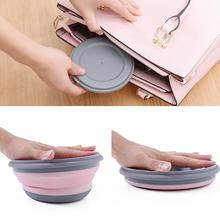 3PCs Sets Silicone Collapsible Noodle Bowl Portable Salad Fruit Lazy Snack Folding with Lid Ice-Cream-Bowls Tablew
