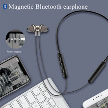 Stereo HD Magnetic Wireless bluetooth music headset Neckband sport Earbuds Earphone with Mic For iPhone 6 7 8 9 11 and Xiaomi original remax s8 wireless bluetooth earphone for iphone 7 xiaomi mi 5 wireless earpod sport stereo earbuds with mic auriculares