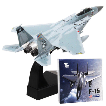 F-15 Eagle Aircraft Alloy Diecast U.S Air Force Tactical Fighter Aircraft Plane In Stock 1/100 Collectible Model Toy Gifts terebo 1 72 aircraft model alloy f 22 fighter simulation finished ornaments military model aircraft model collection gift