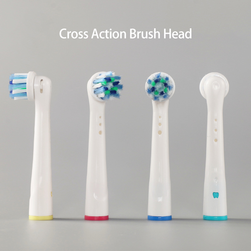 Toothbrush Heads Replacement for Oral B Soft Bristle Cross Action Deep Clean Teeth Brush Heads Compatible with Oral-b 4Pcs/ Pack