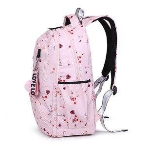 Image 4 - حقيبة ظهر مدرسية للأطفال بتصميم كوري من Fengdong حقيبة كتب للأطفال حقائب مدرسية للبنات حقيبة ظهر للكمبيوتر المحمول مقاومة للمياه حقيبة ظهر للإناث