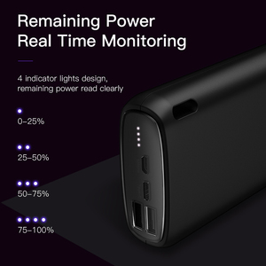 KUULAA Power Bank 20000 mAh Tragbare Lade Poverbank Handy Externe Batterie Ladegerät Power 20000 mAh für Xiaomi Mi