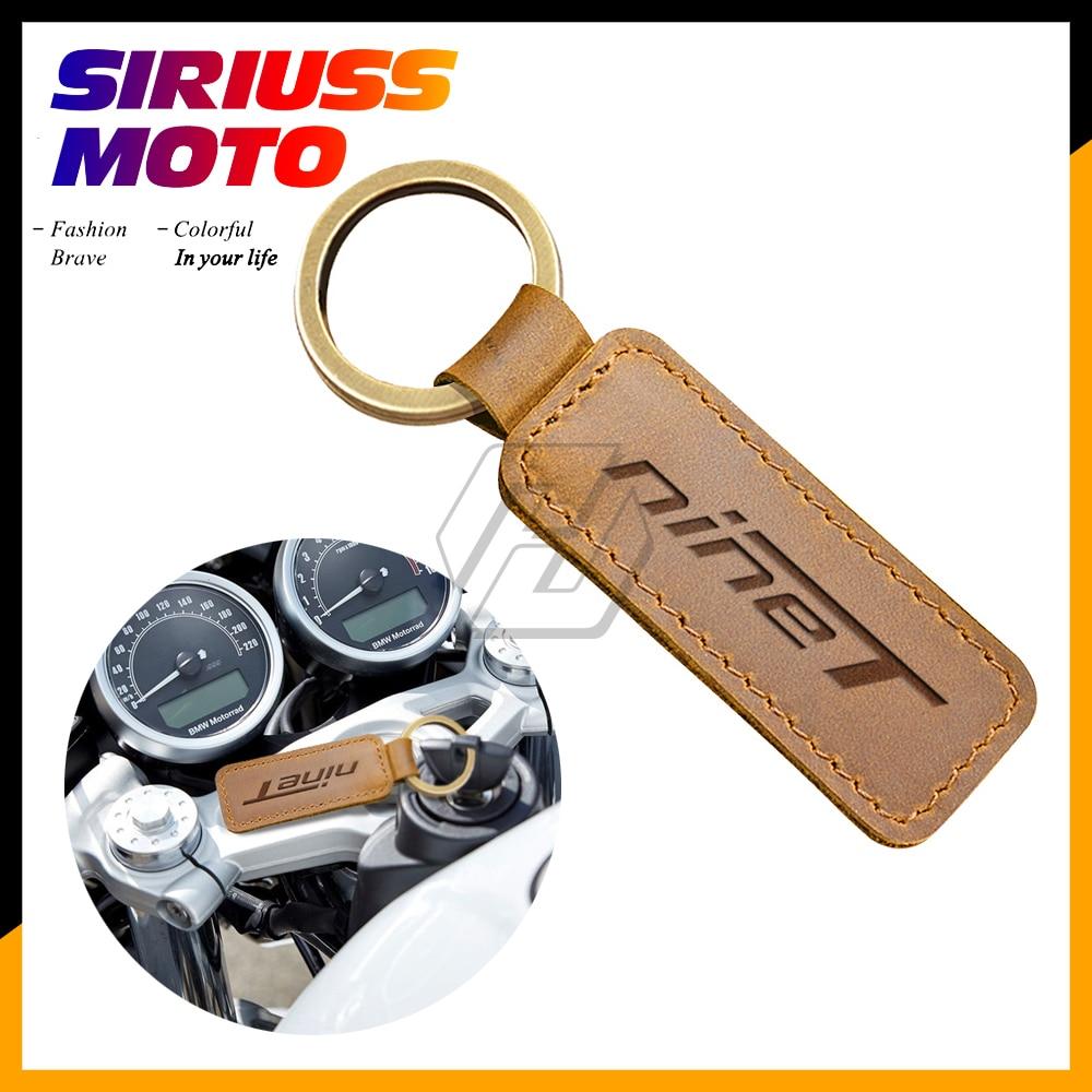 Motorcycle Cowhide Keychain Key Ring Case for BMW Motorrad R Nine T Pure Nine-T