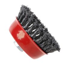 цена на 1PC Stainless Steel Wire Polishing Bowl Brush with 14MM Hole Twisted Wire Shape Wheel for Polished Derusting Tools with Nut M14