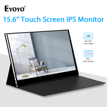 "Eyoyo 15.6 ""IPS מגע צג 1920x1080 FHD נייד HDMI סוג C משחקי צג HDR תצוגת מסך שני עבור מחשב נייד מחשב טלפון"