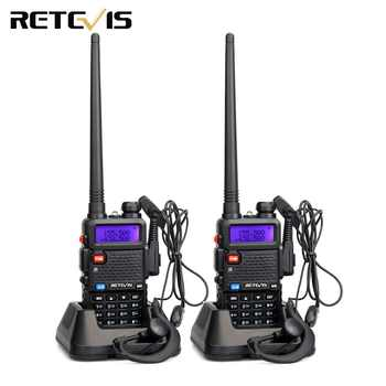 2PCS Retevis RT5R Walkie Talkie 5W 128CH VOX Scan UHF VHF Radio Station Dual Band Portable Ham Radio Two-way Radio for hunting - DISCOUNT ITEM  25% OFF All Category