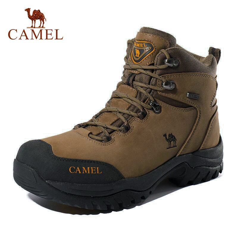 CAMEL Men Women High Top Hiking Shoes 2019 Durable Waterproof Anti-Slip Outdoor Climbing Trekking Shoes Military Tactical Boots title=