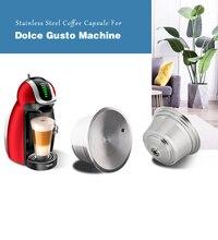 Dolce Gusto capsules à café réutilisables, en acier inoxydable, rechargeables, filtre, dosettes