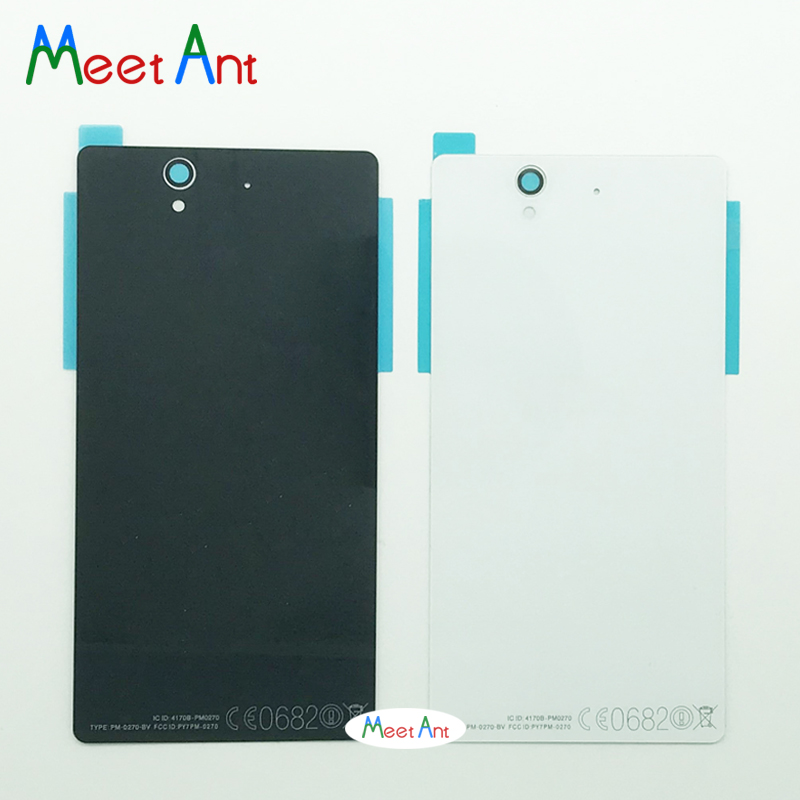 Replacement high quality For <font><b>Sony</b></font> <font><b>Xperia</b></font> <font><b>Z</b></font> L36H L36 C6603 <font><b>C6602</b></font> Back Housing <font><b>Battery</b></font> Cover Door Rear Cover image