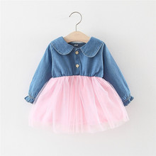 Get more info on the 2019 Fashion Toddler Baby Girl Dresses Fall Winter Kids Girls Tulle Denim Patchwork Rabbit Ear Dresses Casual Dresses