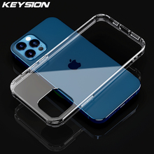 KEYSION Transparent Phone Case For iPhone 12 Pro Max Ultra Thin Clear Back Phone Cover for Apple iPhone 12 Mini 12 Pro Max