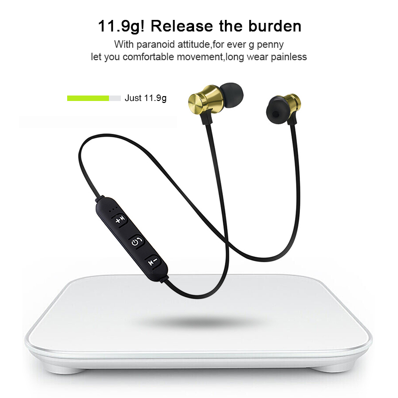Wireless Bluetooth Magnetic Earphones Sports Earphone Stereo Bass Music Earpieces With Mic Earphone For S8 For Mobile Phone