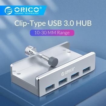ORICO Clip-type USB3.0 HUB Aluminum External Multi 4 Ports USB Splitter Adapter for Desktop Laptop Computer Accessories(MH4PU)