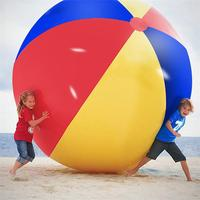 220cm/300cm Inflatable Beach Ball Large Rainbow Thickened PVC Water Volleyball Football Outdoor Party Kids Pool Toys