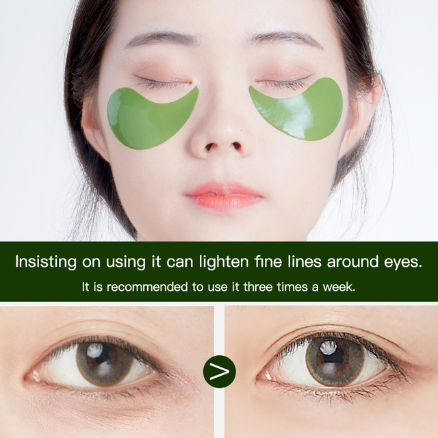 60 Pieces Golden Collagen Mask Lady Natural Moisturizing Gel Eye patches Remove Dark Circles Anti Age Bag Eye Wrinkle Skin Care 4