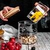 Glass Jars and Lids Creative Stackable Moisture-proof Seasoning Storage Bottle Kitchen Food Fruit Salad Bowl Christmas Candy Jar 1
