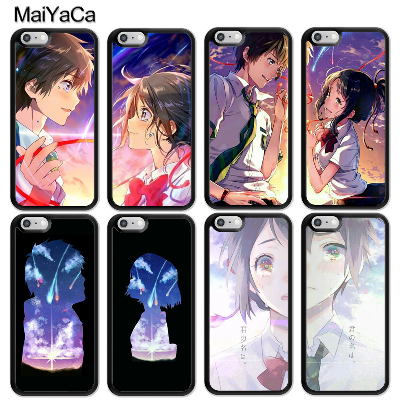 MaiYaCa Yours Name Kimi no Na Wa Lovers Matching Case For iphone 12 mini 11 Pro MAX X XR XS MAX SE 2020 6S 7 8 Plus 5S Cover