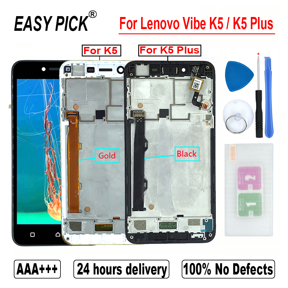 For Lenovo Vibe K5 A6020A40 A6020a41 LCD Display Touch Screen Digitizer Assembly For Lenovo K5 Plus A6020A46 A6020l36 a6020l37 Mobile Phone LCD Screens     - title=