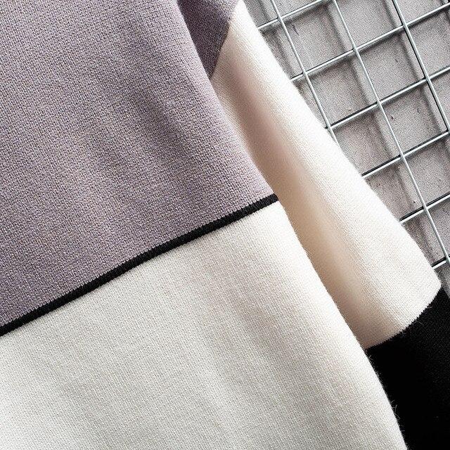 Suéter cálido de Cachemira para hombre, jersey de cuello alto, suéteres en forma de retales, Tops tejidos de Navidad, invierno, nuevo 6
