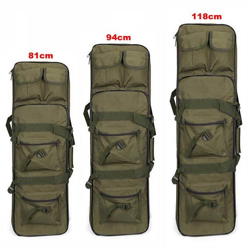 Nylon Rifle Case Bag Tactical Military Carbine Soft Bag Airsoft Holster Gun Bag Rifle Accessories 81 / 94 /118cm Protection Case