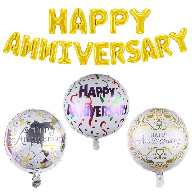 Воздушные шары из фольги с надписью на юбилей и день рождения