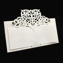 Name Decoration Numbers Place-Cards Seating Laser-Cut Heart-Table Birthday-Party Wedding