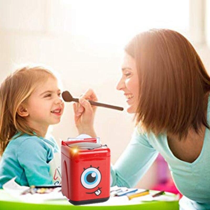 Mini lavadora y limpiador de cepillos, niña jugando regalo de maquillaje, juguete portátil lavadora cepillo de limpieza de pintura niños Cos