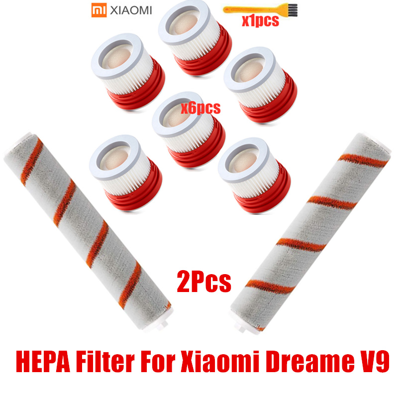 HEPA Filter For Xiaomi Dreame V9 V9B 10Household Wireless Handheld Vacuum Cleaner Accessories Hepa Filter Roller Brush Parts Kit