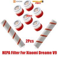 Ev Aletleri'ten Elektrikli Süpürge parçaları'de HEPA filtre için Xiaomi Dreame V9 V9B 10 ev kablosuz elektrikli el süpürgesi aksesuarları Hepa filtresi rulo fırça parça kiti
