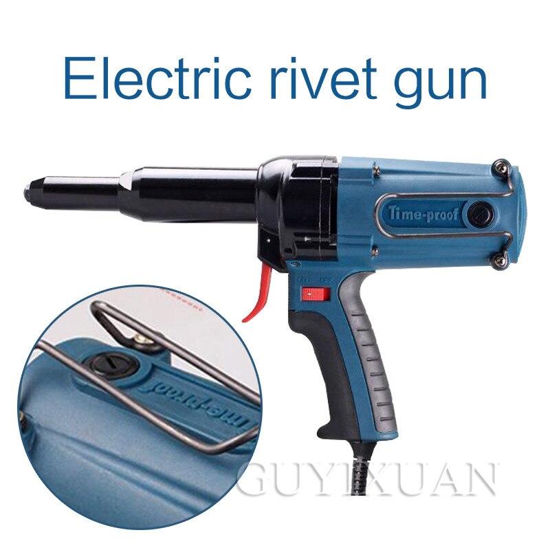 220V/400W Electric High-efficiency Blind Rivet Gun Industrial Electric Riveting Gun Portable Pull Nail Gun