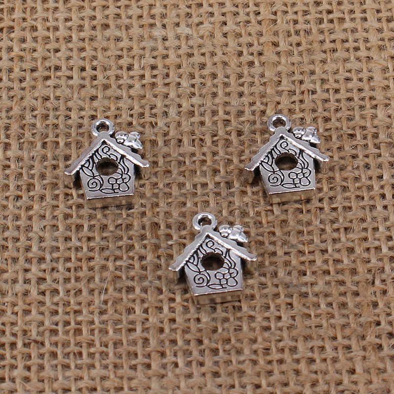 7 Pcs Huis Hondenhok Charms 17X15 Mm Antiek Zilver Kleur Hanger Voor Diy Sieraden Maken Bevindingen Handgemaakte Craft 0085